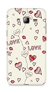 Amez designer printed 3d premium high quality back case cover for Samsung Galaxy J3 (2016 EDITION) (Love And Kiss)