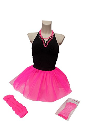 Neon Pink Tutu Set. Plus Size 14 to 18