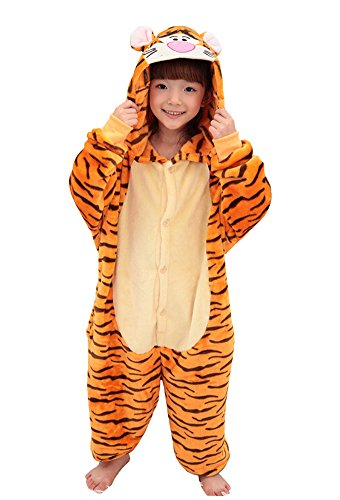 Tonwhar Children's Onesie Pajamas Halloween Costumes Tiger Kids Kigurumi