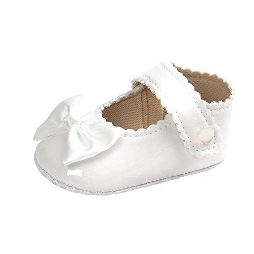 BOBORA Toddler Baby Girls Bowknot Anti-slip Soft Sole Princess Crib Shoes