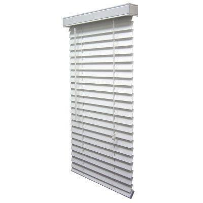 2 Inch Faux Wood Blind, White - 44.5 x 72