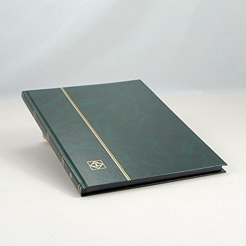 Lighthouse-Hardcover-Stamp-Album-Stockbook-with-16-Black-Pages-Green-LS48