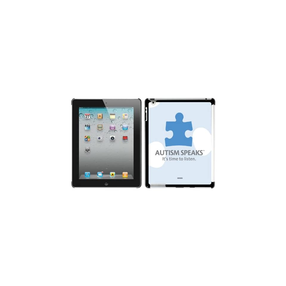 Autism Speaks Puzzle Piece design on New iPad Case Smart Cover Compatible (for the New iPad)