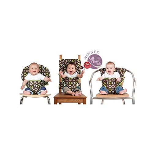 Totseat Chocolate Circles, Portable Fabric Chair Harness - Pack of 6 (Totseat Chair Harness compare prices)