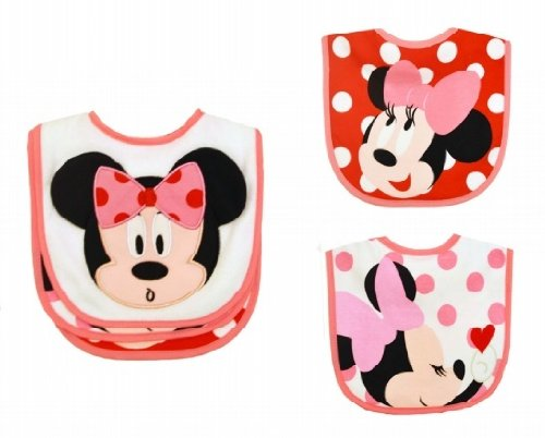 AD Sutton Disney 3 Pack Minnie Feeder Bibs - 1