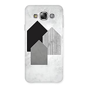 Delighted Black Grey White Back Case Cover for Galaxy E7