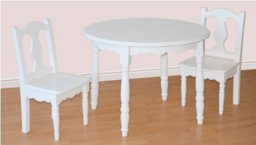 Ukid Lindsey Round Wood Table And Chair Set White Buy