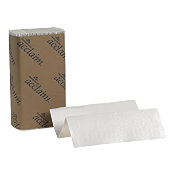 """Georgia-Pacific Acclaim 20204 White Multifold Paper Towel, 9.4"""" Length x 9.2"""" Width (Case of 16 Packs, 250 per Pack)"""