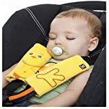 New Baby Child Pushchair Stroller Car Seat Belt Strap Cover Pad Cushion Shoulder (Light Yellow)