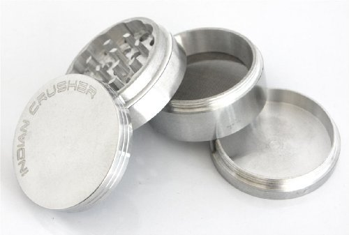 2.0'' Lifetime Warranty* 4pc Indian Crusher, Tobacco, Herb Grinder CNC tooled from Raw Aluminum