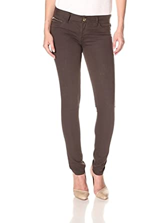 Amanda Skinny Chocolate Dark Brown Stretch Denim-Brown-24