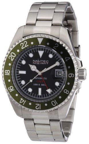 Nautec No Limit Herren-Armbanduhr Deep Sea DS AT-GMT/STSTGRBK