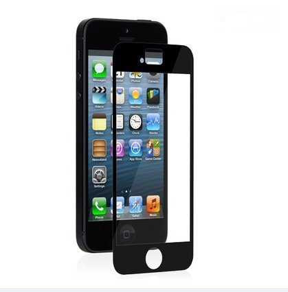 Ggs 0.5Mm Self-Adhesive Optical Glass Lcd Screen Protector For Apple Iphone 5 Black