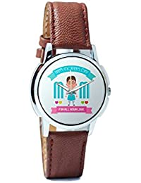 BigOwl Mom For All Your Love Analog Men's Wrist Watch 2239214526-RS1-W-BRW