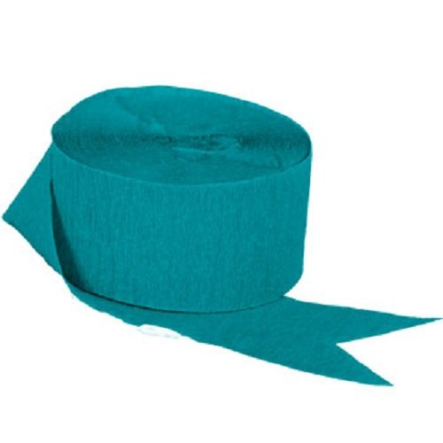TEAL Crepe Paper Streamers, 2 ROLLS, 145 FT TOTAL, MADE IN USA! (Teal Paper Streamer compare prices)
