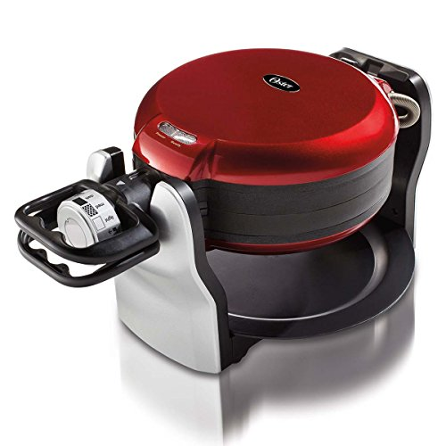 Oster Electric Double Flip Belgian Style Waffle Maker, Red | CKSTWFDF2-1-015 (Waffle Maker Non Electric compare prices)