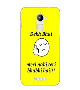 COOLPAD NOTE 3 LITE DEKH BHAI Back Cover by PRINTSWAG