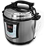 NutriChef PKPRC22 - Digital Stainless Steel Electric Pressure Cooker And Steamer - Delay Start And Multi Function...