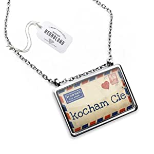 """Necklace """"I Love You"""" Love Letter from Poland polish - Pendant with Chain - NEONBLOND"""