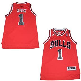 NBA Chicago Bulls Rose #1 Youth Jersey Top with Embroidered Logo by NBA