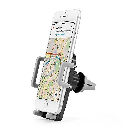 Supporto per auto, Gaoye auto Air Vent Mount titolare universale GPS telefono montaggio Stand auto auto culla supporto per iPhone Samsung HTC Moto Sony smartphone Gps supporto (Grigio)