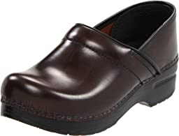 Dansko Women\'s Professional Pro Cabrio Leather Clog,Hickory,41 EU / 10.5-11 B(M) US