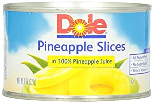 Dole Pineapple Slices in Juice, 8-Ounce Cans (Pack of 24)