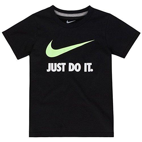 Nike Little Boys' Black Green Athletic T-shirt