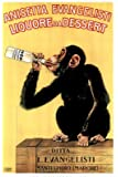 Vintage Liquore Dessert Drunk Monkey Poster Art 24 inch x 36 inch Poster Print, 24x36 Collections Poster Print, 24x36