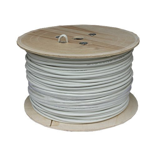 Cable Matters In-Wall Rated (CM) Cat6a Shielded (SSTP/SFTP) Ethernet Cable in White 1000 Feet