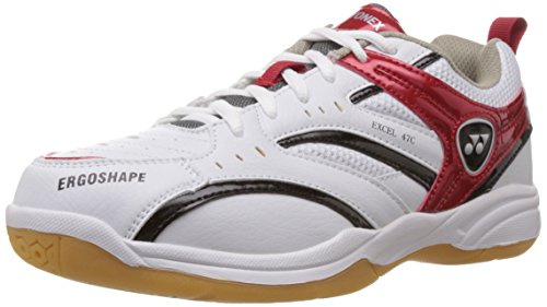 Yonex Excel 47C Badminton Shoes, UK 6 (White/Red)