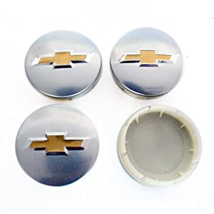 HAMMER Chevrolet 63.5mm Silver Wheel Center Hub Caps 4-pc Set Special Offer by HAMMER