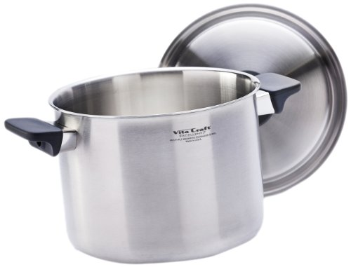 Affordable vita craft 6910 8004 6 0 quart pan and cover for Kitchen craft waterless cookware price