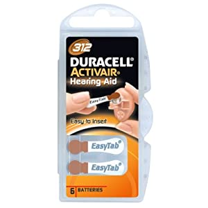 Duracell Activair size 312 Hearing Aid Battery (10 packs of six cells)