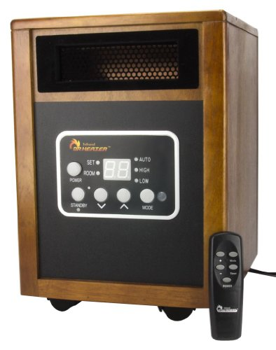 Dr. Infrared Heater Dr968 Portable Infrared Space Heater With Caster Wheels