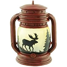 Lantern Tealight Candle Holder With Moose Scene, 5-inch By Tea Light