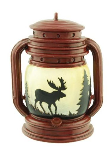 Lantern Tealight Candle Holder with Moose Scene, 5-inch
