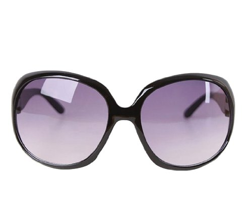 Womdee(TM) Fashion Vintage Oversized Frame Sunglasses-Black