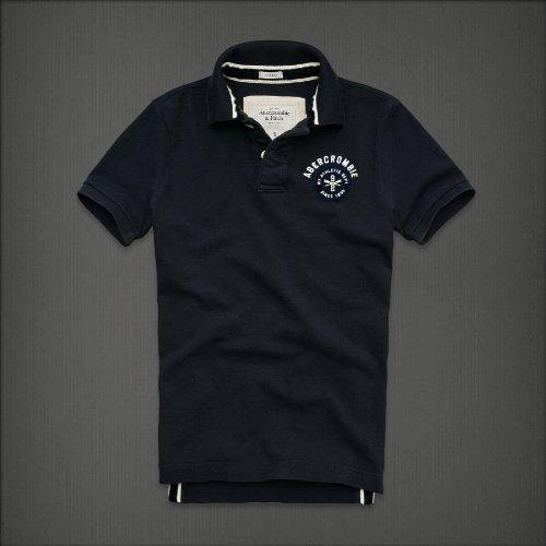 【Abercrombie&Fitch】アバクロンビー&フィッチ メンズポロシャツ 半袖 2.ネイビー (M)[アバクロ ポロシャツ polo Shirt men ]