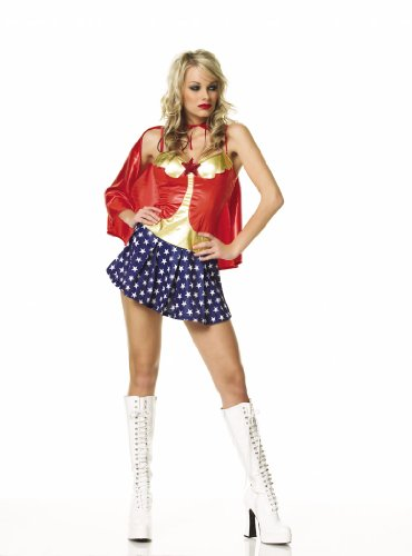 All American Babe Sexy Super-Hero Womens Costume