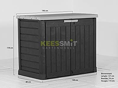Keter Store-It-Out Lounge Lagerung Anthrazit 146cm von Keter - Gartenmöbel von Du und Dein Garten