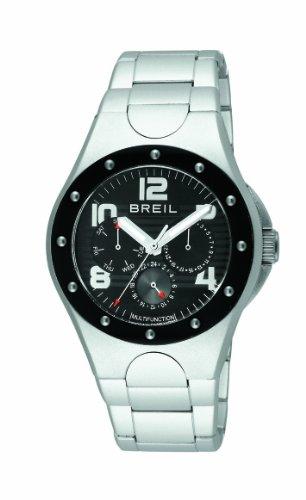Breil Men's Quartz Watch TW0803 With Black Multi Function Dial And Bracelet