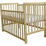 Baby Club Beattie Drop Side Cot-Pine + FREE Mattress