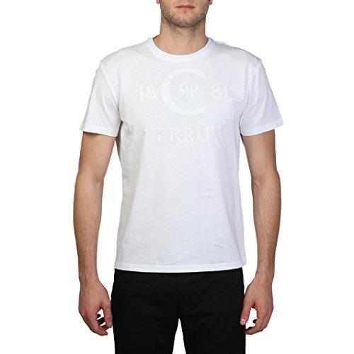 Cerruti 1881 - T-Shirt 100% cotone maniche corte logo lucido - Uomo (XL) (Bianco)