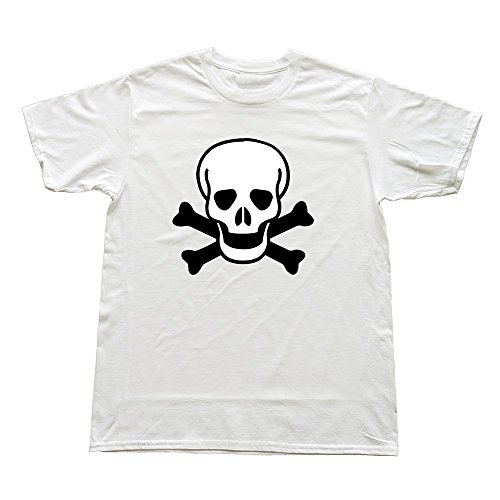 100% Cotton Best Skull Tee Shirts For Man'S - Round Neck front-476372