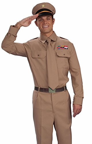 [Mememall Fashion WWII Brown Army Military Soldier Officers Generals Uniform Costume GeneralFast] (Army General Womens Costume)