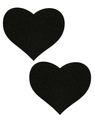 Black Heart Nipple Pasties By Pastease O/S