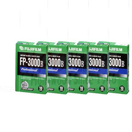 FUJIFILM FP-3000B 3.34 X 4.25 Inches Professional Instant Black and White Film Pack of 5