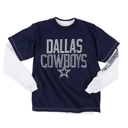 Dallas Cowboys Youth Alliance 3 in 1 Combo Long Sleeve / Short Sleeve T-Shirt Youth Size: Youth S at Amazon.com