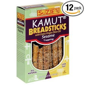 Suzie's Kamut Breadsticks, Sesame Topping, 4.5-Ounce Boxes (Pack of 12) ( Value Bulk Multi-pack)